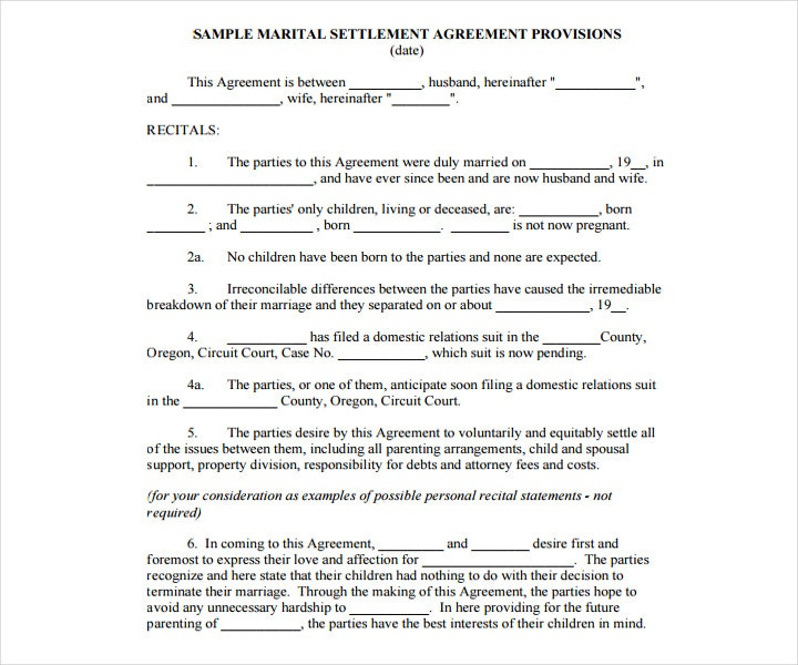 Wedding Service Contract Certificate Template