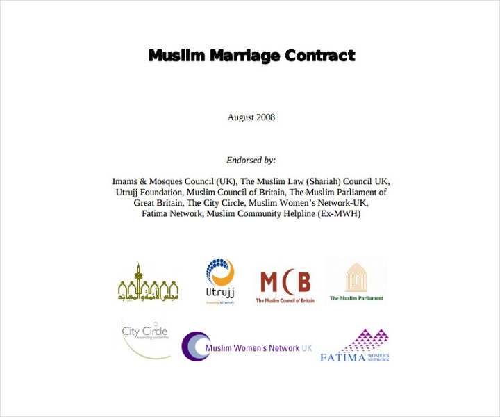 Wedding Service Contract Template