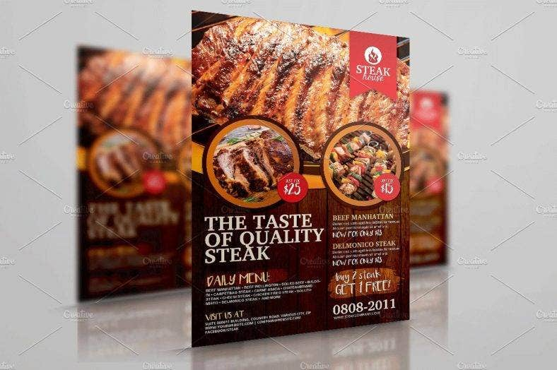 barbecue-grill-restaurant-flyer
