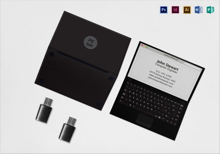 blacklaptopbusinesscard