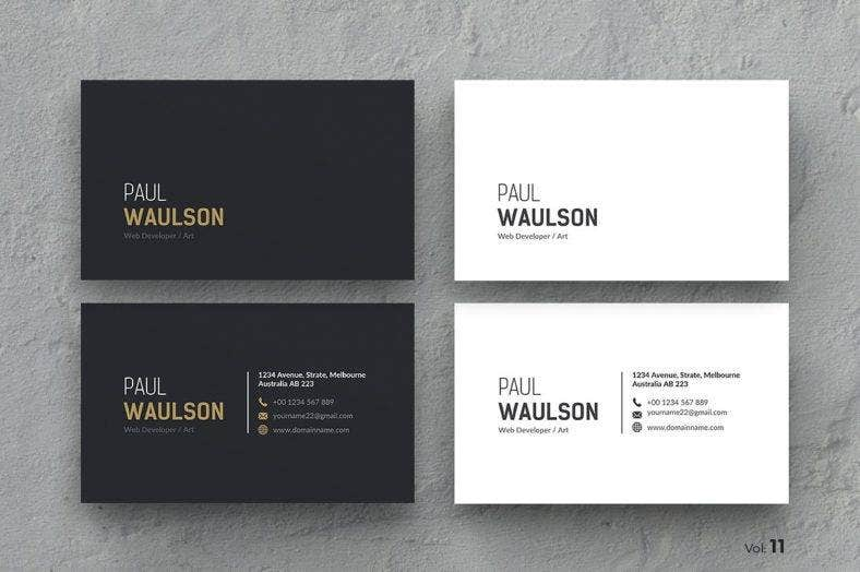 14 black and white business card templates editable psd ai business card reheart Gallery