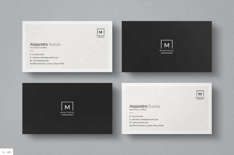 cleanblackandwhitebusinesscard