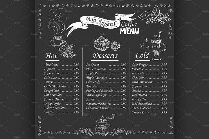 coffee-menu-on-chalkboard