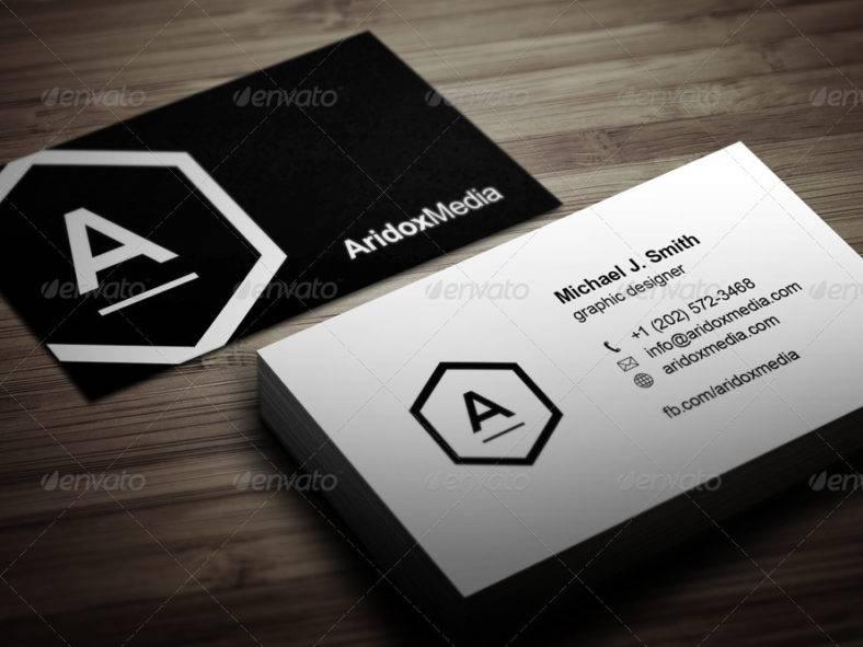 companyblackandwhitebusinesscard