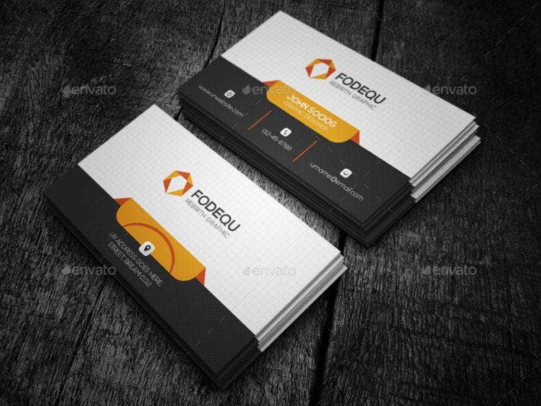 Media Business Card Templates Editable PSD AI InDesign PDF - Luxury ignite template scheme