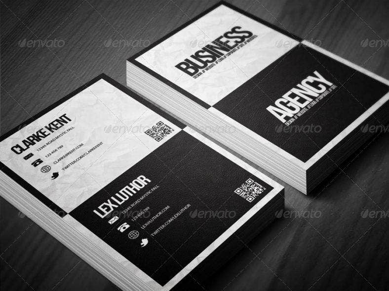 corporateblackandwhitebusinesscard