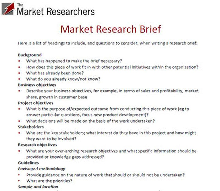 10 Market Research Proposal Templates Word Pdf Pages Free