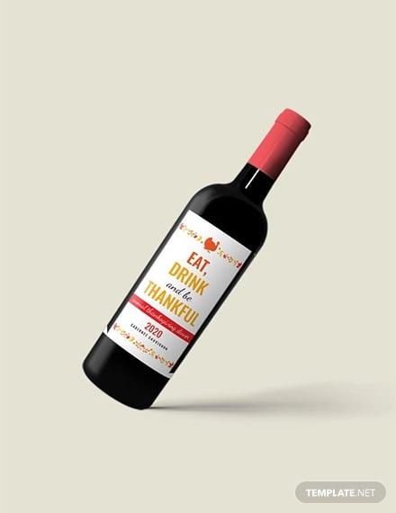 free thanksgiving wine bottle