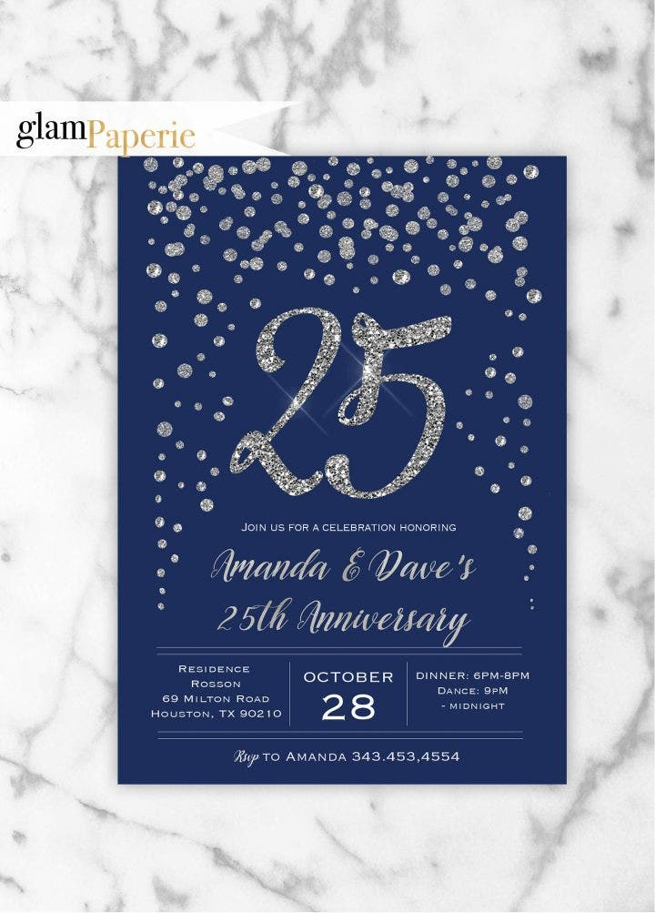 14  elegant wedding anniversary invitation templates