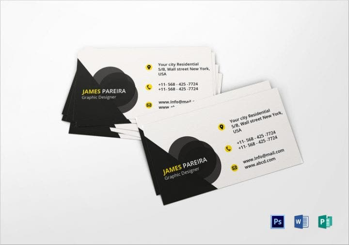 jamespareiragraphicdesignerbusinesscard