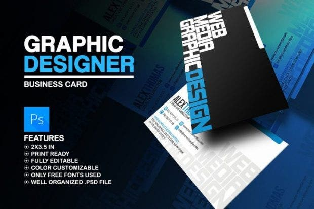17  graphic designer business card templates