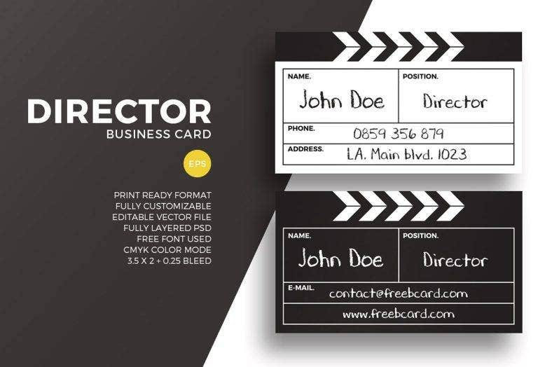 16 director business card designs templates psd ai indesign movie director business card colourmoves