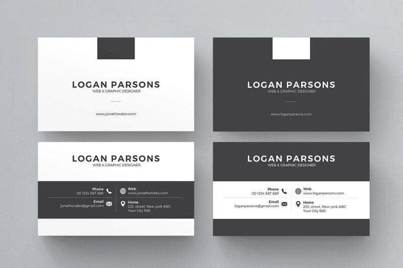 multipurposeblackandwhitebusinesscard