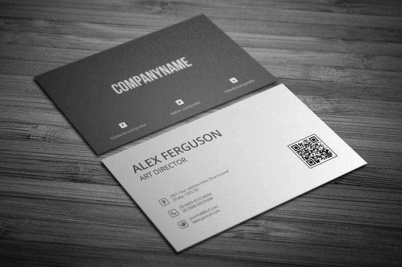 ready-to-printblackandwhitebusinesscard