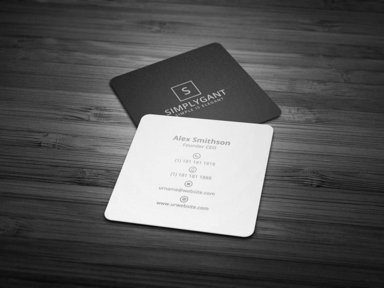 squareminimalblackandwhitebusinesscard