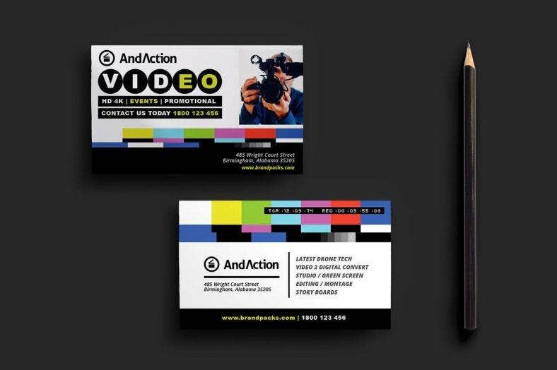 videographer-business-card-template