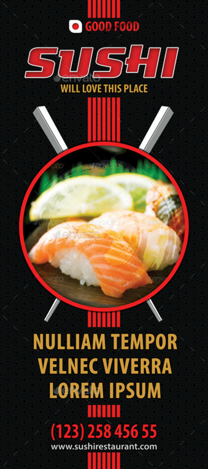 black-sushi-restaurant-rollup-banner-template