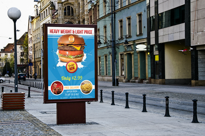 burger restaurant advertising bundle template