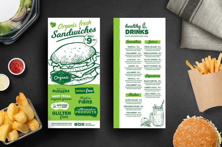 17  restaurant rack card designs  u0026 templates