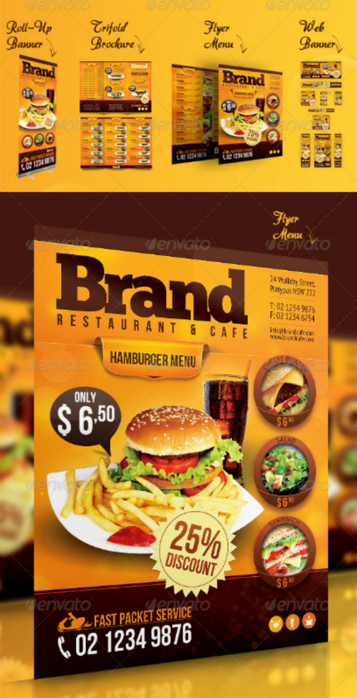 14 Restaurant Advertising Designs Amp Templates Psd Ai
