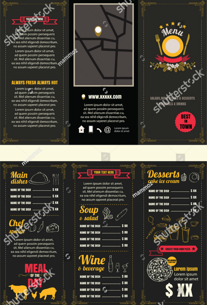 10  restaurant pamphlet templates