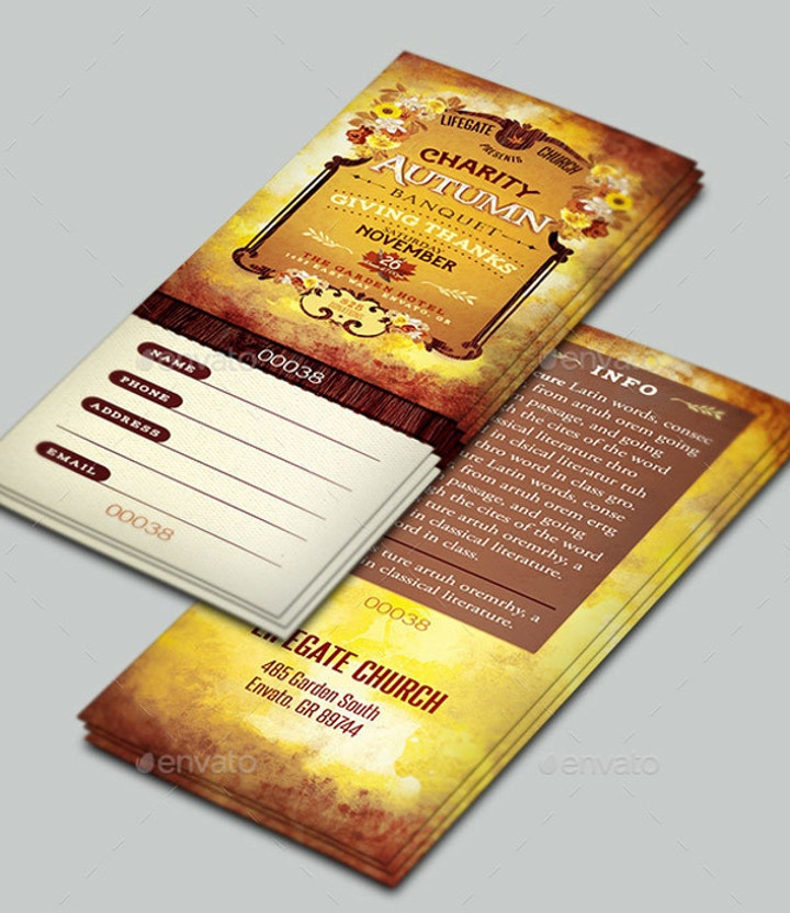 charity autumn banquet ticket template1
