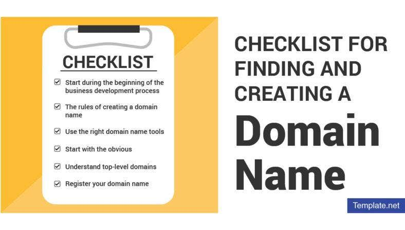 checklist for finding and creating a domain name 788x447