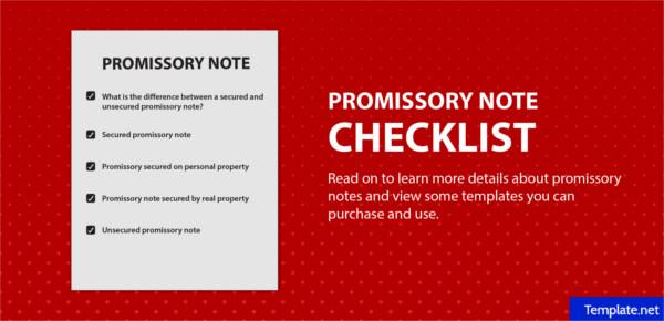 checklistforwritingapromissorynote