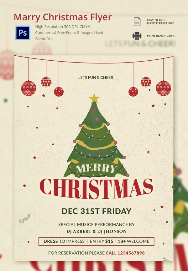 30 free christmas templates designs psd word free for Christmas brochure template