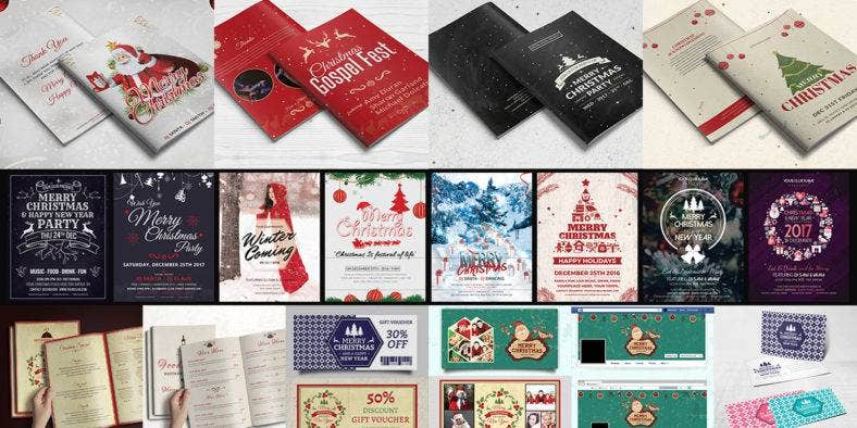 Christmas Stationary Template Bundle