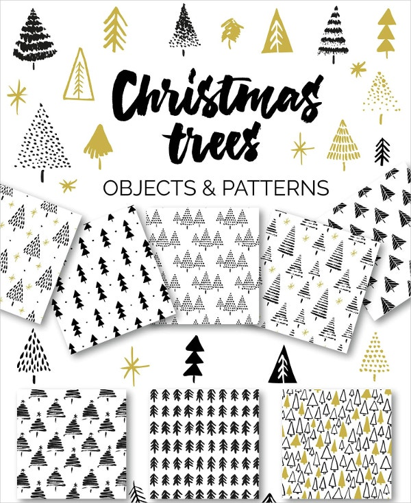 christmas tree objects patterns