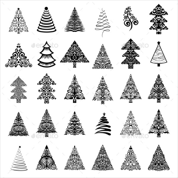 christmas tree shapes1