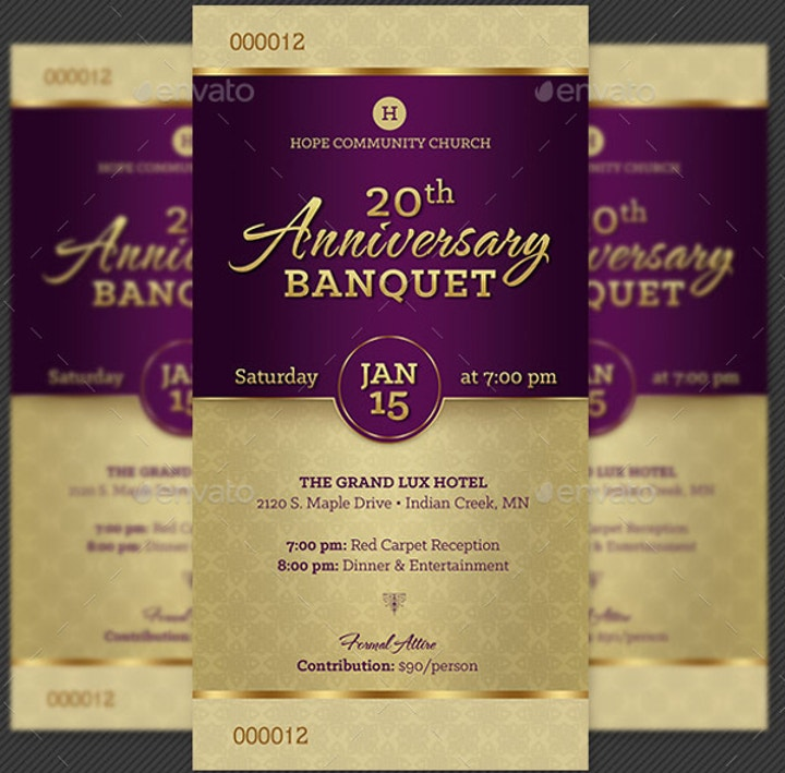 church-anniversary-banquet-ticket-template