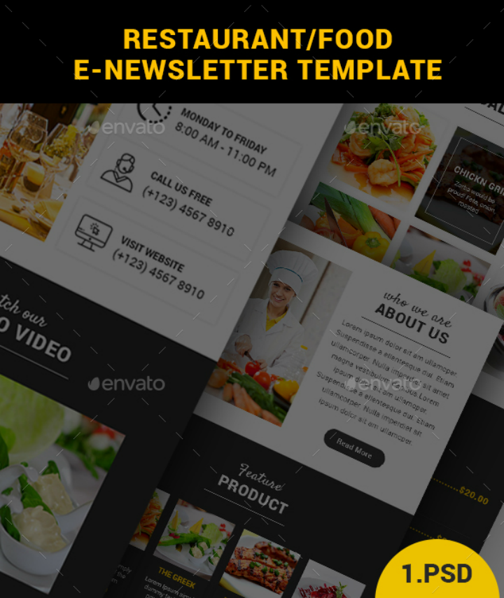 clean-restaurant-email-template