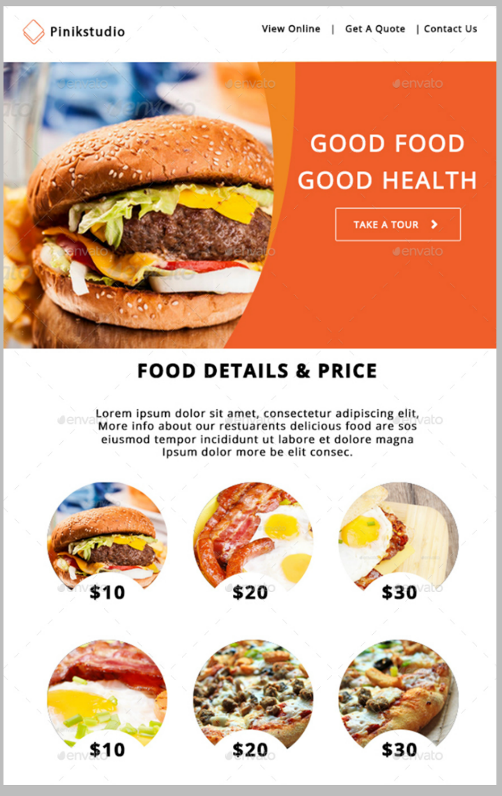 colorful-restaurant-email-template