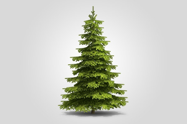 cut out christmas tree
