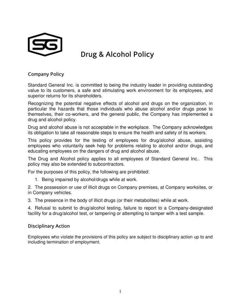 Drug free workplace policy template choice image for Drug free workplace policy template