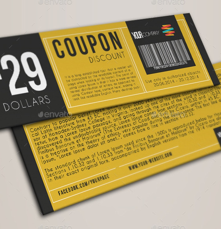 elegant discount coupon template