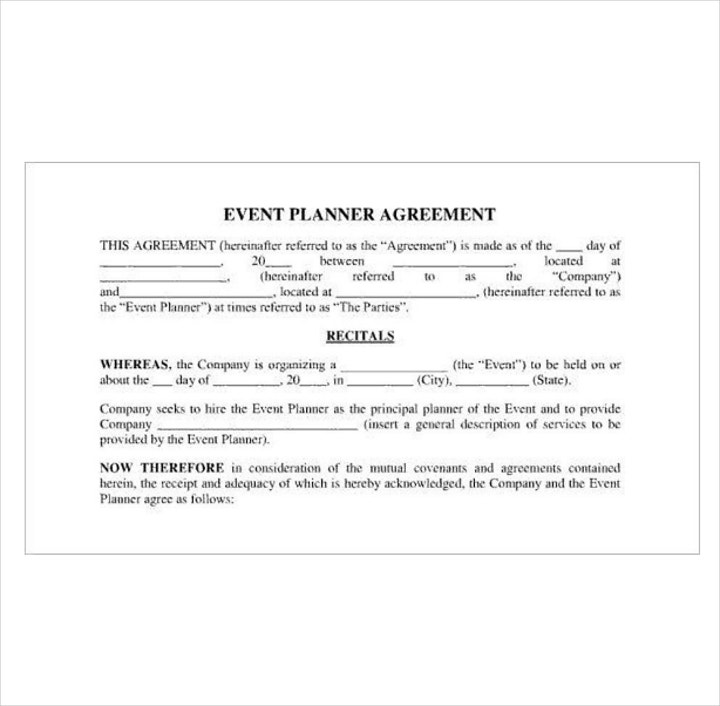event-planner-agreement