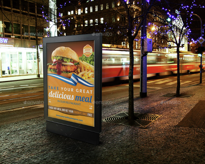 fast food restaurant advertising template
