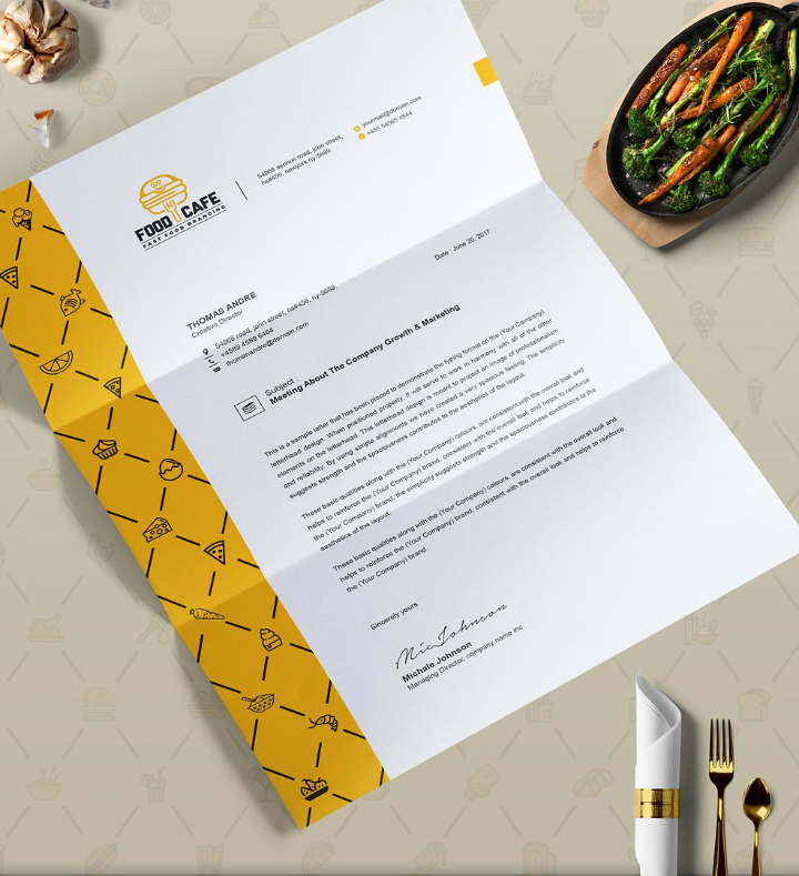 fast-food-restaurant-letterhead-template-set