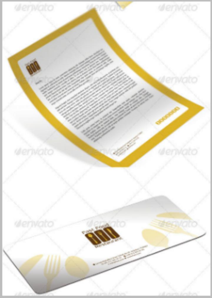 fast food restorant corporate letterhead template