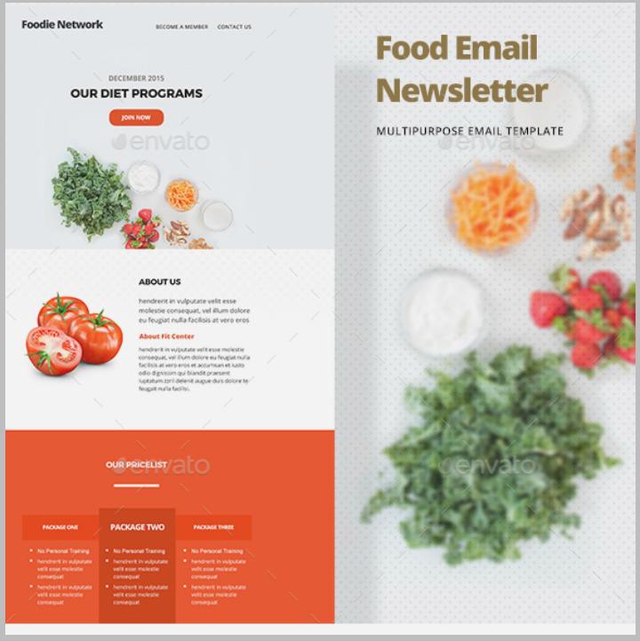 food-menu-restaurant-email-template