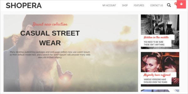free casual street wear ecommerce wordpress theme
