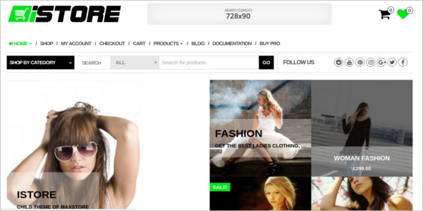 free fashion wear ecommerce wordpress theme