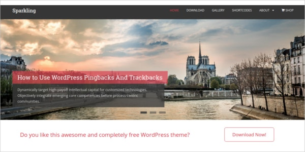 free responsive modern wordpress theme
