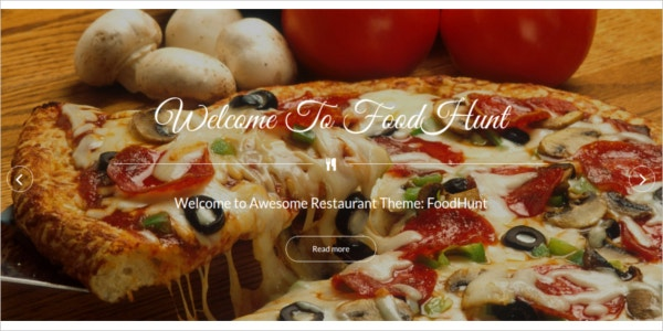 free responsive restaurant wordpress theme