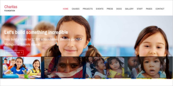 free responsive wordpress charity theme