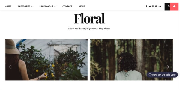 free responsive wordpress floral theme