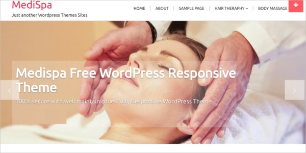 free responsive wordpress medispa theme